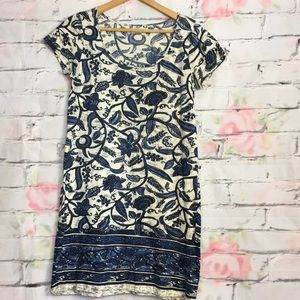 Lucky brand blue floral T-shirt dress size medium